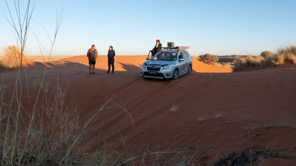 Subaru Forester driving the dunes South Africa